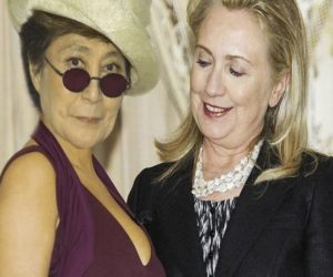 Yoko Ono and Hillary Clinton