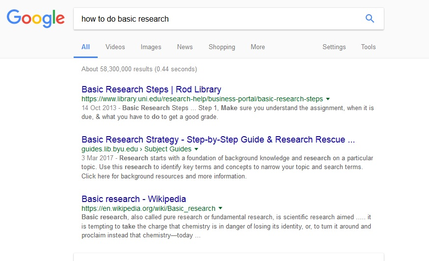 Basic research
