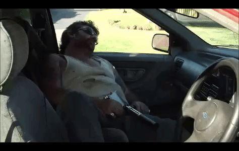 Sleeping asshole